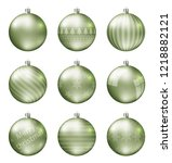 pastel light green christmas... | Shutterstock .eps vector #1218882121