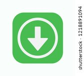 down arrow icon. green button....