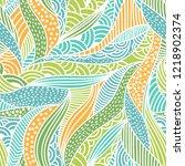 vector abstract waves...   Shutterstock .eps vector #1218902374