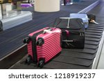 baggage reclaim at the airport. ... | Shutterstock . vector #1218919237