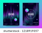 electronic music posters.... | Shutterstock .eps vector #1218919357