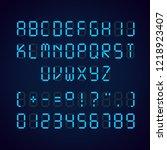 vector template of glowing... | Shutterstock .eps vector #1218923407