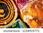 sweets soft candy nougat... | Shutterstock . vector #1218925771