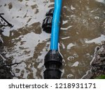 leaked poly pipes are being...   Shutterstock . vector #1218931171