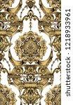 vector damask seamless pattern... | Shutterstock .eps vector #1218933961