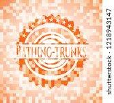 bathing trunks orange tile...   Shutterstock .eps vector #1218943147