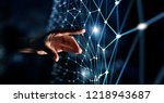 new technologies for connection....   Shutterstock . vector #1218943687