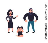 stop abuse violence. domestic... | Shutterstock . vector #1218947734