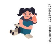 stop violence and abused... | Shutterstock . vector #1218949327