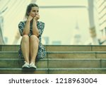 Alone Woman And Depressed...