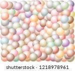 multi colored 3d balls random... | Shutterstock .eps vector #1218978961