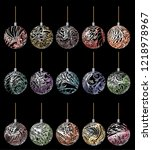 3d christmas decoration balls ... | Shutterstock .eps vector #1218978967