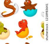 animals born from eggs ... | Shutterstock .eps vector #1218983641