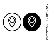 map pointer icon. gps location... | Shutterstock .eps vector #1218986557