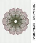 green and red rosette or money...   Shutterstock .eps vector #1218991387