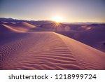 sand dunes in death valley... | Shutterstock . vector #1218999724