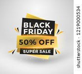 black friday sale sticker.... | Shutterstock .eps vector #1219000534