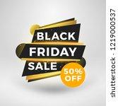 black friday sale sticker.... | Shutterstock .eps vector #1219000537