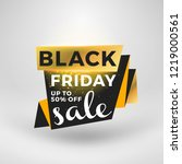 black friday sale sticker.... | Shutterstock .eps vector #1219000561