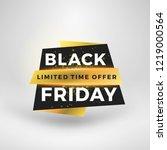 black friday sale sticker.... | Shutterstock .eps vector #1219000564