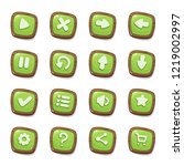 set of 16 green jelly icons in...