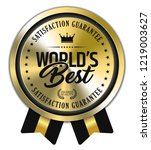 world's best. vector golden... | Shutterstock .eps vector #1219003627