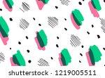 colorful geometric memphis...   Shutterstock .eps vector #1219005511