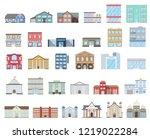 buildings set. buildings set.... | Shutterstock .eps vector #1219022284