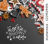 christmas background ... | Shutterstock .eps vector #1219029454