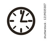clock vector icon. time vector... | Shutterstock .eps vector #1219035307
