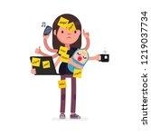 multitask vector illustration | Shutterstock .eps vector #1219037734