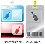 glue bottle. id cards. raster...   Shutterstock . vector #121904095