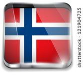 vector   norway flag smartphone ... | Shutterstock .eps vector #121904725