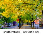 ponferrada  spain. circa... | Shutterstock . vector #1219056421