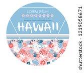 hawaii country club. vector... | Shutterstock .eps vector #1219058671