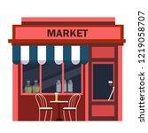restaurants and shops facade ... | Shutterstock .eps vector #1219058707