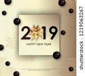 happy new year 2019 winter... | Shutterstock .eps vector #1219063267