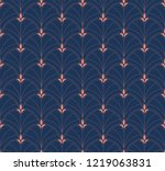 classic art deco seamless...   Shutterstock .eps vector #1219063831