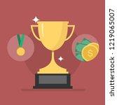 trophy cup and award. winner... | Shutterstock .eps vector #1219065007