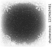 black hole snow winter frame... | Shutterstock .eps vector #1219065481