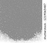 winter snowfall on transparent... | Shutterstock .eps vector #1219065487