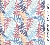 fern frond herbs  tropical... | Shutterstock .eps vector #1219071061