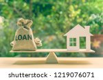 home loan  reverse mortgage and ... | Shutterstock . vector #1219076071