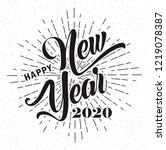 happy new year 2020   vector... | Shutterstock .eps vector #1219078387