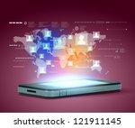 modern communication technology ... | Shutterstock . vector #121911145