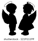 Two Black Angel Silhouettes...