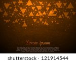 dark tech retro design. vector... | Shutterstock .eps vector #121914544