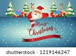 merry christmas.santa claus...   Shutterstock .eps vector #1219146247