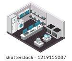 consumer electronics store... | Shutterstock .eps vector #1219155037