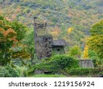 an old building is reclaimed by ... | Shutterstock . vector #1219156924